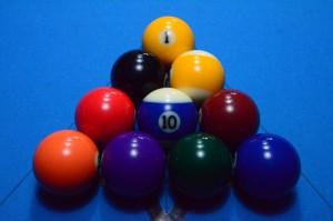 Aufbau im 10-Ball